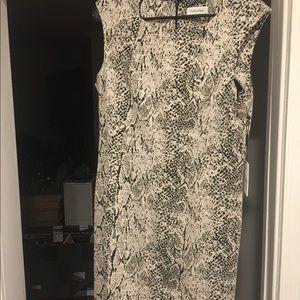 Calvin Klein Snake Print Dress